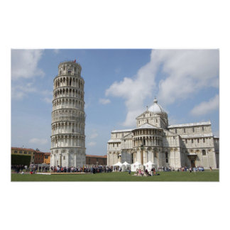 Italy, Pisa. Leaning Tower of Pisa and Photo Art