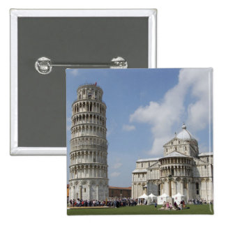 Italy, Pisa. Leaning Tower of Pisa and Pinback Button