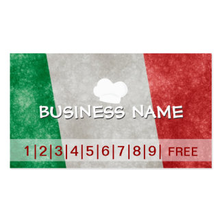 Italy Pizza Business Loyalty Punch Card