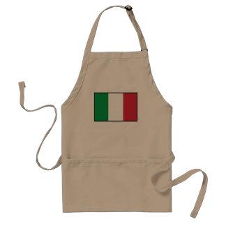 Italy Plain Flag Adult Apron