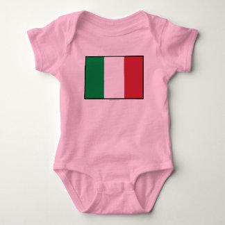 Italy Plain Flag Baby Bodysuit