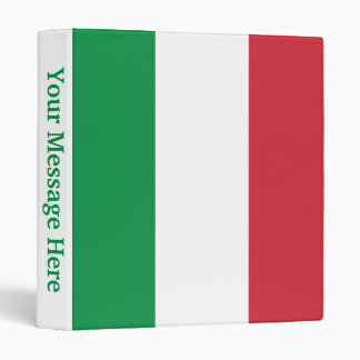 Italy Plain Flag Binder