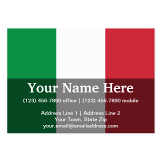Italy Plain Flag Large Business Cards (Pack Of 100)