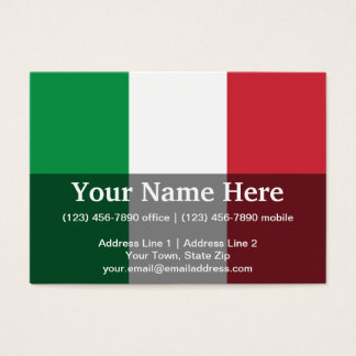 Italy Plain Flag Business Card