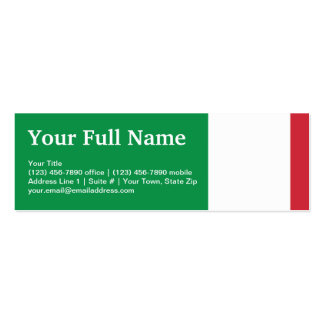 Italy Plain Flag Double-Sided Mini Business Cards (Pack Of 20)