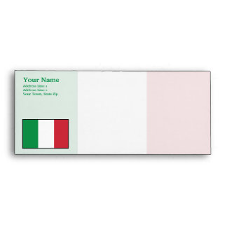 Italy Plain Flag Envelopes