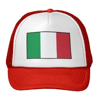 Italy Plain Flag Trucker Hats