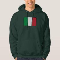 Italy Plain Flag Hoodie