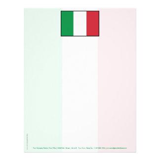 Italy Plain Flag Letterhead