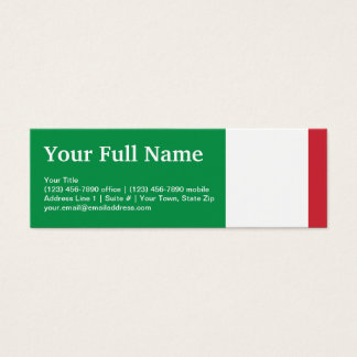 Italy Plain Flag Mini Business Card