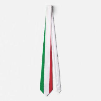 Italy Plain Flag Neck Tie