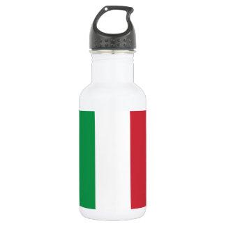 Italy Plain Flag 18oz Water Bottle