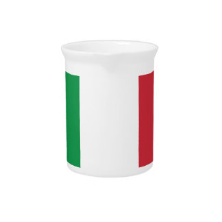 Italy Plain Flag Drink Pitchers