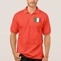 Italy Plain Flag Polo Shirt
