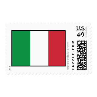 Italy Plain Flag Postage Stamps