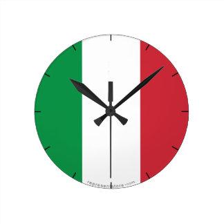 Italy Plain Flag Round Clock