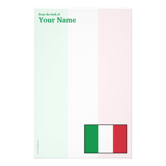 Italy Plain Flag Stationery