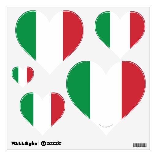 Italy Plain Flag Wall Decal