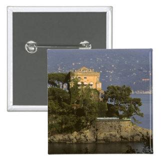 Italy, Portofino. Scenic life on the 2 Inch Square Button