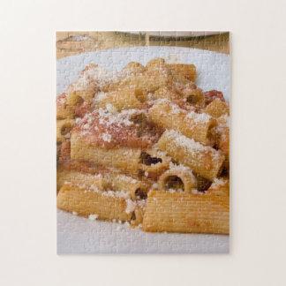 Italy, Positano. Display plate of rigatoni Jigsaw Puzzle
