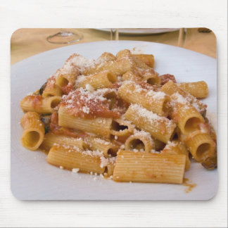 Italy, Positano. Display plate of rigatoni. Mouse Pad