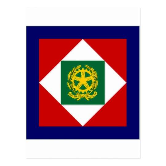 Italy President Flag Postcard