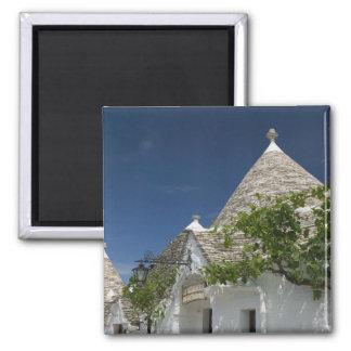 Italy, Puglia, Alberobello, Terra dei Trulli, 2 2 Inch Square Magnet