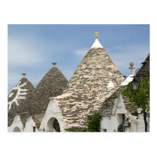 Italy, Puglia, Alberobello, Terra dei Trulli, Postcard