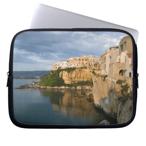 Italy, Puglia, Promontorio del Gargano, Vieste, Laptop Sleeve