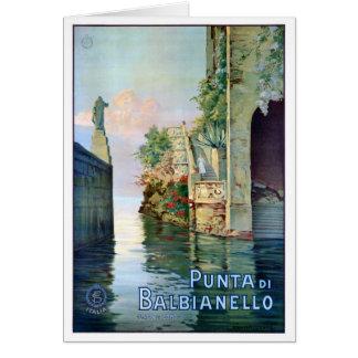 Italy Punta di Balbianello Restored Vintage Poster Card
