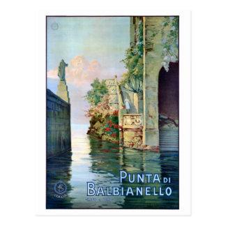 Italy Punta di Balbianello Restored Vintage Poster Postcard