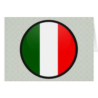 Italy quality Flag Circle Greeting Card