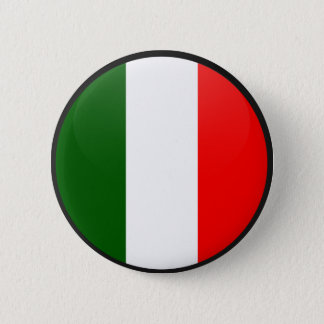 Italy quality Flag Circle Pinback Button