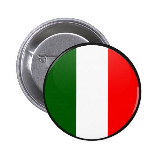 Italy quality Flag Circle Pinback Buttons
