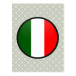 Italy quality Flag Circle Postcards