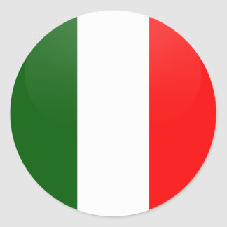 Italy quality Flag Circle Sticker