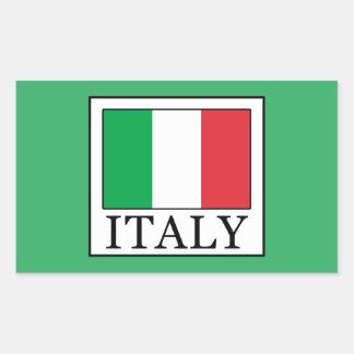Italy Rectangular Sticker
