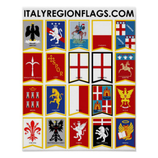 Italy Regions Poster