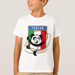 Kids' Hanes TAGLESS® T-Shirt with Italian Rhythmic Gymnastics Panda design