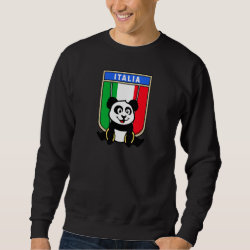 Men's Basic Sweatshirt with Italian Rings Panda design