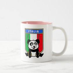 Two-Tone Mug with Italian Rings Panda design