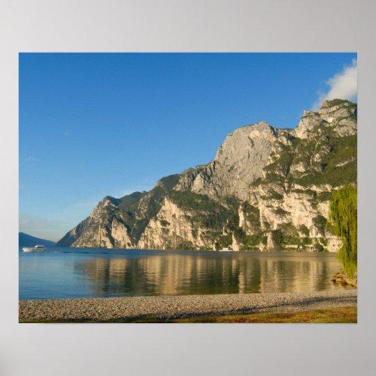 Italy, Riva del Garda, Lake Garda, Mount Poster