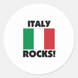 Italy Rocks Classic Round Sticker