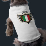 """Italy Rocks Tee<br><div class=""""desc"""">Cool crest design with national flag of Italy colors and caption: Italy Rocks. Great Italian pride gift.</div>"""