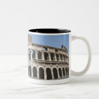 Italy, Rome, Antique Roman amphitheater's, Two-Tone Coffee Mug