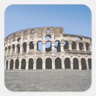 Italy, Rome, Antique Roman amphitheater's, Square Sticker