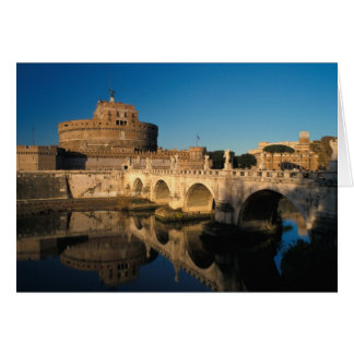 Italy Rome Castel Sant Angelo and river Cards