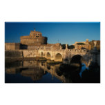 Italy, Rome, Castel Sant'Angelo and river Poster
