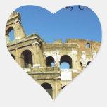 Italy Rome Coliseum (new) (St.K) Heart Sticker