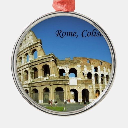 Italy Rome Coliseum (new) (St.K) Round Metal Christmas Ornament